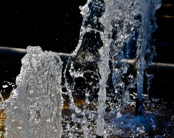 water photograph Blues black white abstract fountain wall decor wall design