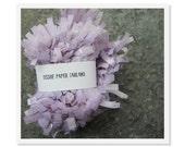 Lavender Fringe Tissue Garland, Festooning Garland, Paper Fringe, Baby Shower Garland, Wedding Garland, Party Garland, Fringe Garland