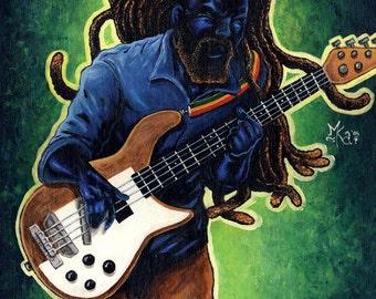 Electric Bass 13x16 Print