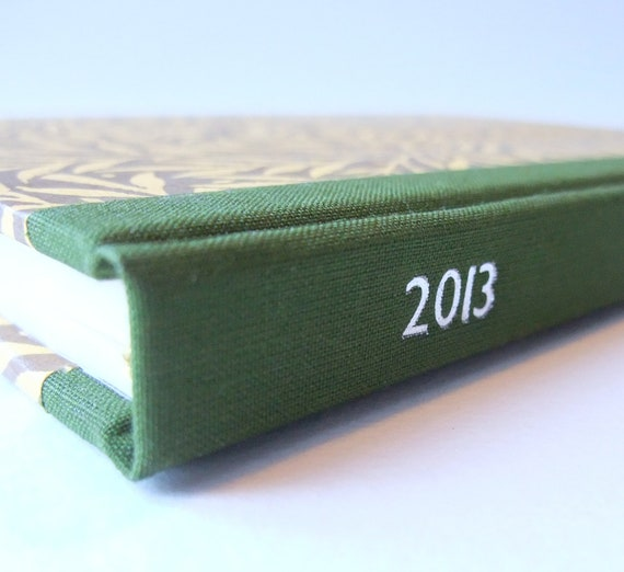 NEW LARGER SIZE: 2013 Diary with Decorative Paper Covers