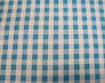 Tea Cakes - Checkered Napkin - By Verna Mosquera -1 Yard - Cornflower - 7.95 Dollars