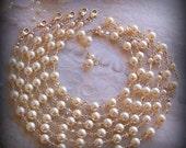 Bride Bridesmaids Bracelet  - Five (5) Bracelets - Customizable Swarovski Pearl and Crystal - Wedding Favors, 14k Gold Filled - 3042