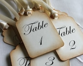 Wedding Escort Cards - Wedding Table Numbers -  Escort Cards - Table Number Cards - Wedding Place Tags