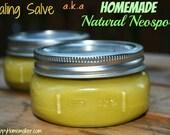 Natural Healing Salve, Large Jar 8oz - Great for Minor Cuts, Scrapes, Burns, Diaper Rash, Eczema, Dry Skin, & More