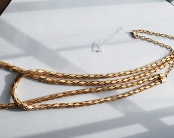 Sale - Gold Color Fancy Chain Necklace - Ready to Go Wear