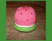 Watermelon Hat Pattern / Instant Download / Newborn to Adult