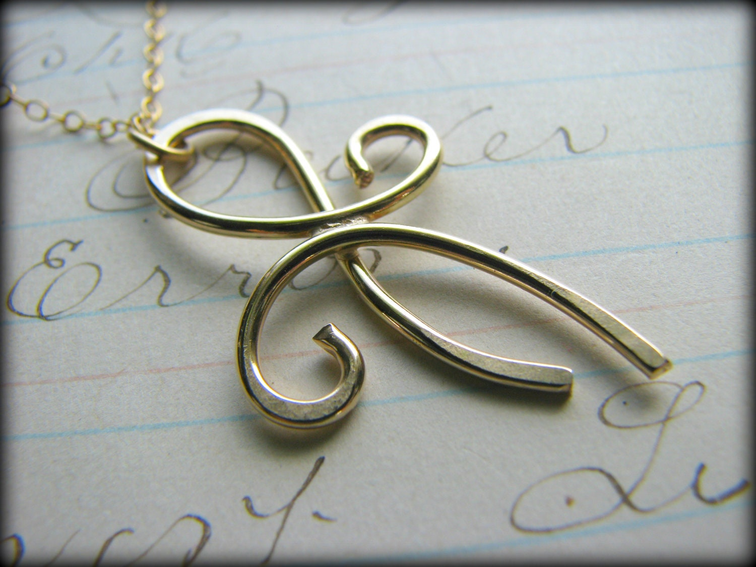 Gold Best Friends Forever Necklace Large Eternity Tattoo