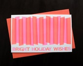Bright Wishes Holiday Letterpress Card // 1535