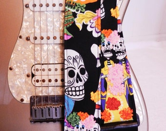 Day of the Dead Trio party hipster guitar strap