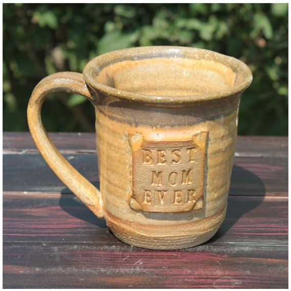 Personalized MUG, Hand made pottery, Best Mom Ever, Ready to ship