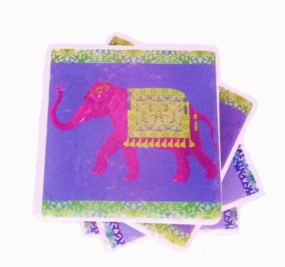 Pink Elephant Coasters