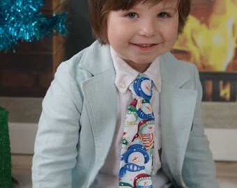 Christmas Snowman II Neck Tie Toddler Baby Boy Christmas