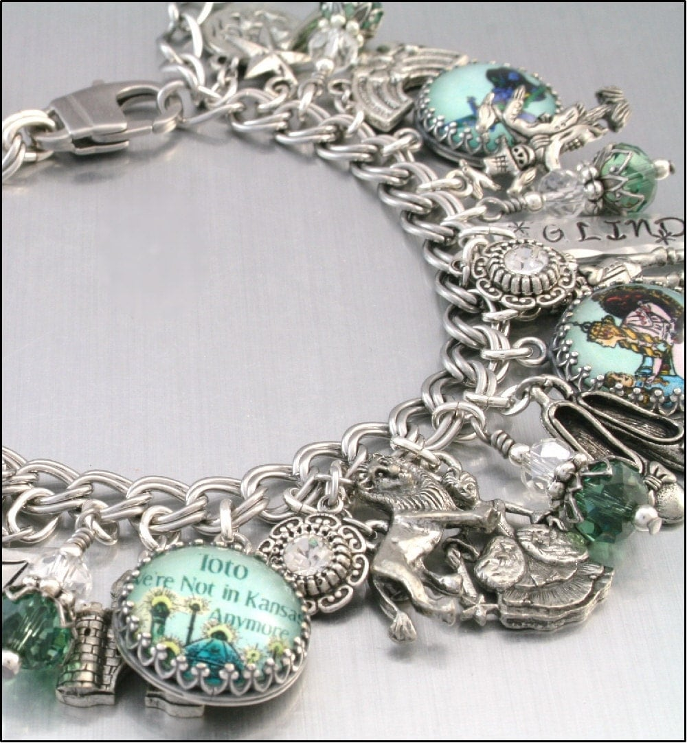 Wizard of Oz Charm Bracelet Silver Charm by BlackberryDesigns