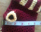 dog sweater, doggy sweater, dog sweaters, dogs, sweaters, red, gold, crochet, pets, dog clothing