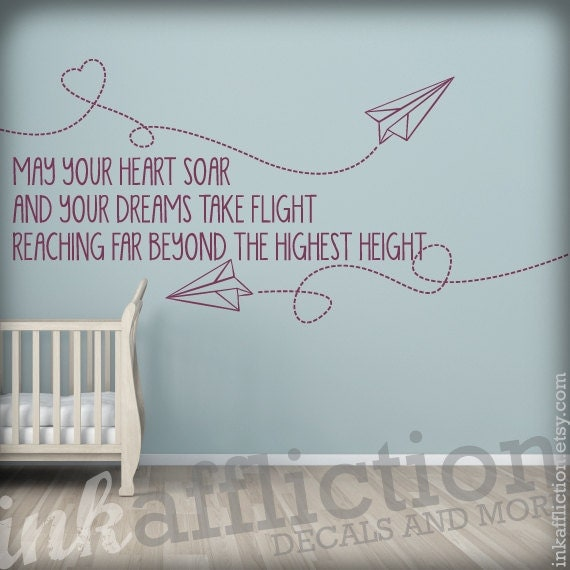 Items Similar To Paper Airplanes Quote Wall Decal