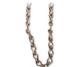 Vintaj Natural Brass 4 x 6.5mm Ladder Chain - Bulk By The Foot 82275