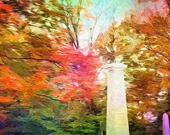 Rainbow Colored Digital Art Print, 11x14 Giclee Print, Home Decor, Wall Art, EBSQ
