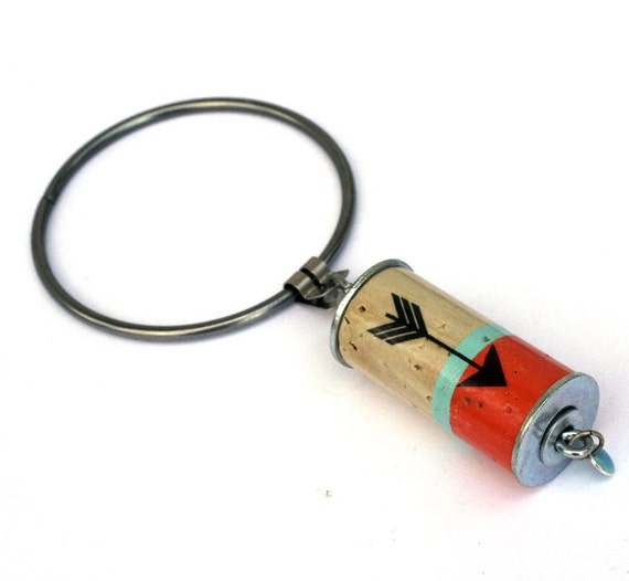Women's Gift, Keychain, Wine Cork Keychain, Recycled Cork, Giant Jailer Keychain, Keyring, Choose Your Colors