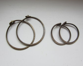 "Set of two - Sweet n' Simple Antique Brass 3/4"" 5/8"""