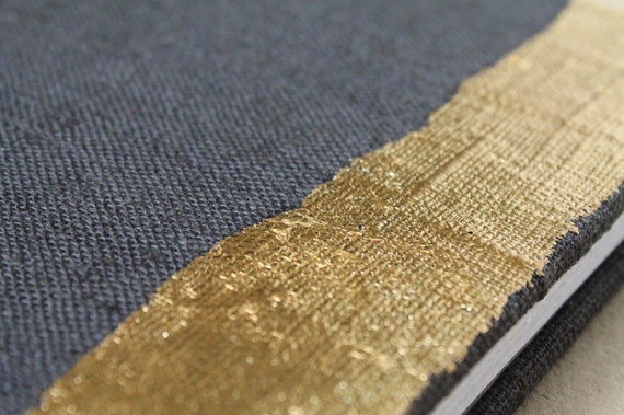 Gold and Gray Coptic Bound Journal - Medium Size