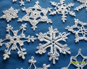 12 crochet Lacy snowflakes beautiful design perfect for Christmas/winter decoration