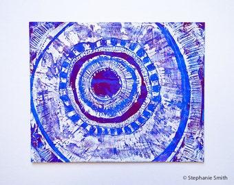 Mandala: Shaman's Dream Original Art - Matted and ready to frame
