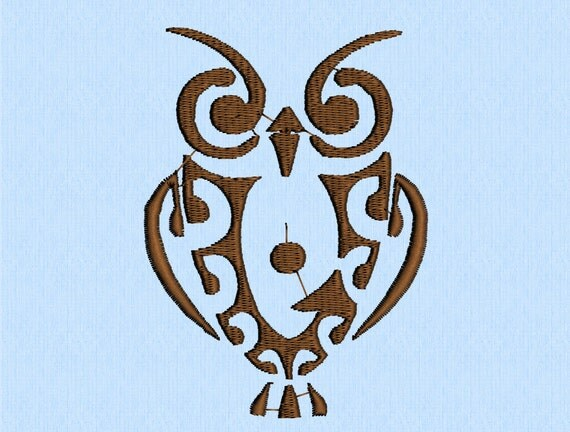owl tribal tattoo machine embroidery design file 2 by lynellen. Black Bedroom Furniture Sets. Home Design Ideas