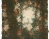 Seeping - Original drypoint print