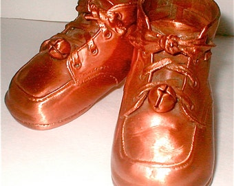 Baby Boomer Bronzed Baby Shoes - Vintage 50s - Perfectly Preserved  and ready for your Project