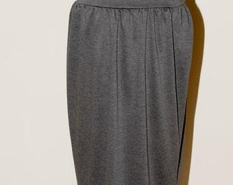 Grey Ponte Stretch Knit Skirt size 12-14