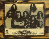 Lynyrd Skynyrd Promo Photo - Wooden Plaque