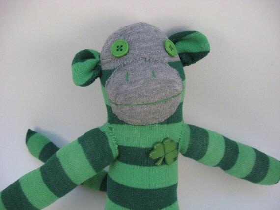 Seamus Cloverheart - Irish sock monkey