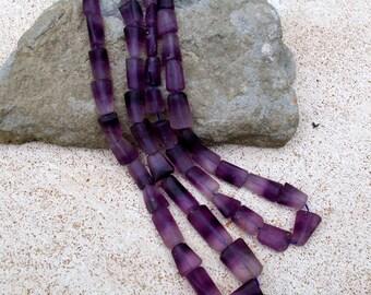 Purple Fluorite Arrows- Afghanistan Gemstone Bead Strand