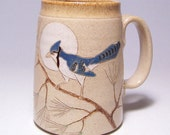 RESERVED CUSTOM Blue Jay Pottery Coffee Mega Mug Limited Series 38 (microwave safe) 24 ounce