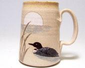 Loon and Moon Pottery  Mega Coffee Mug Limited Series 169 (microwave safe) 24oz