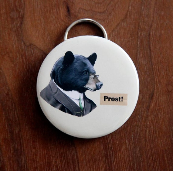 black bear bottle opener keychain. Black Bedroom Furniture Sets. Home Design Ideas