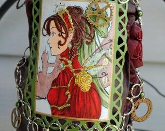 Steam punk fairy decorative vase - On Sale
