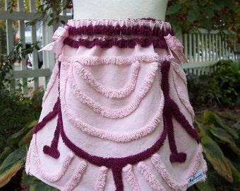 My Carrie OOAK Vintage Chenille Girl's skirt 3T