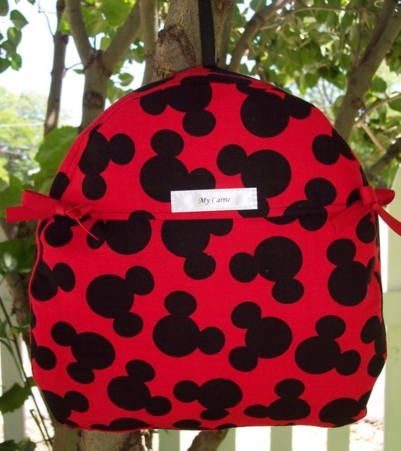 Toddler Backpack Made From Mickey Mouse Disney Fabric