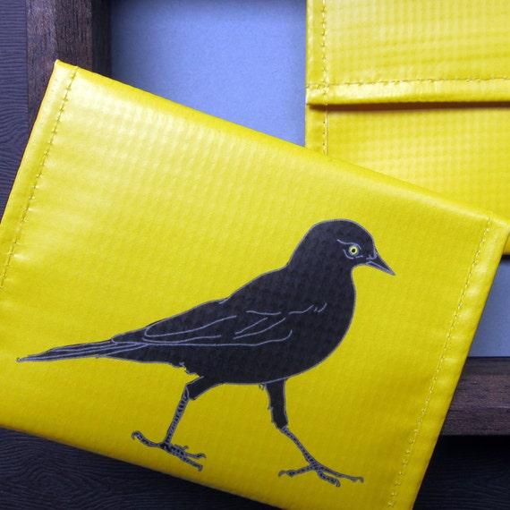 Blackbird Coin Purse / Pouch / ID Wallet --Eco Friendly--Birder Gift