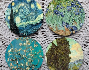 Glorious Landscapes -- Van Gogh Mousepad Coaster Set