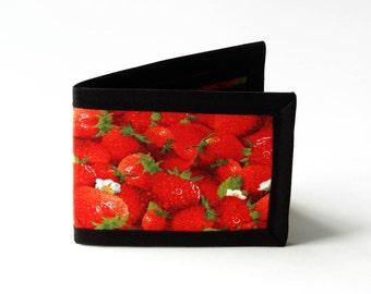 Strawberries Billfold - Vegan Friendly Wallet
