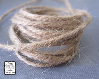 Tea Stain Twine - 10 yards - Jute - Hand Dyed Ribbon - natural brown tan