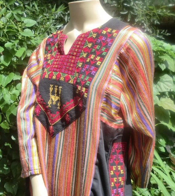 VINTAGE Tribal Hippie CAFTAN Dress