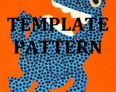 Fabric Applique TEMPLATE Pattern Only SLOB The Monster....New...2 Sizes