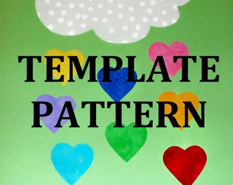 Applique PDF TEMPLATE Pattern Only Cloud Raining Hearts.....New...Available Aug 27th