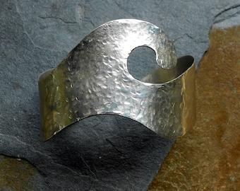Sterling Silver Wave Cuff