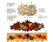 Thanksgiving and Xmas home decor Vintage sewing pattern McCalls 8054 Tablecloth Tree skirt wall decor Xmas boot