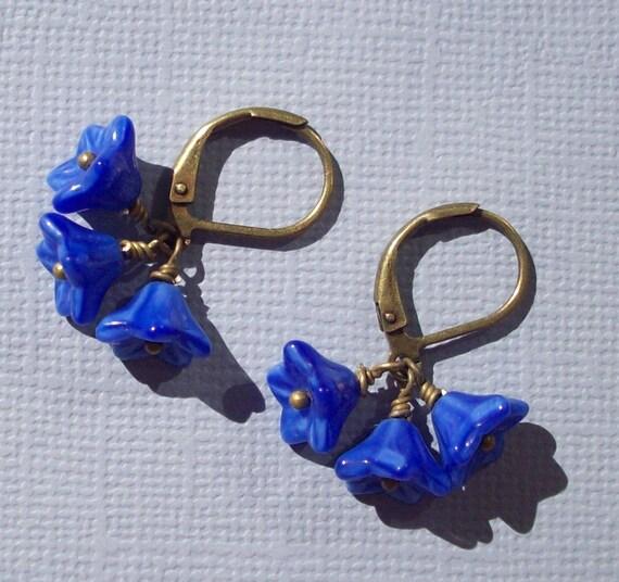 Sweet and Simple in Cobalt Blue Earrings
