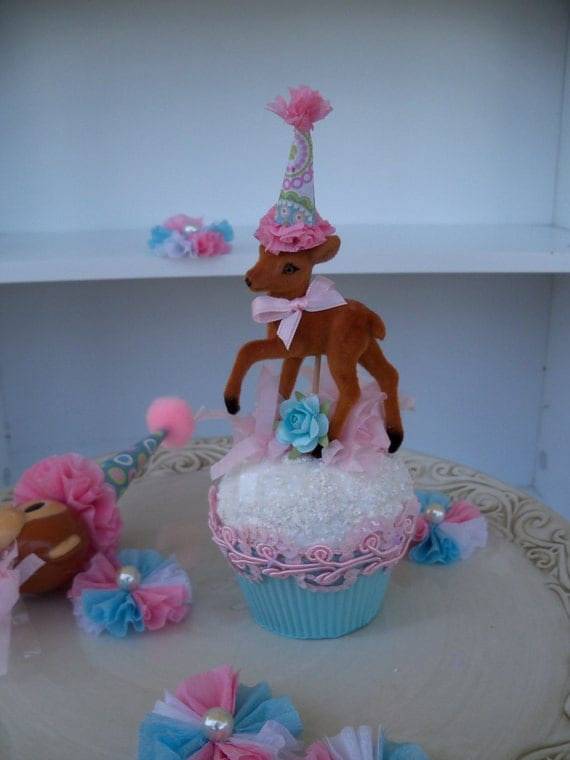 Sweet Deer Cake Topper for Birthday Party